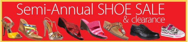 Semi-Annual Shoe Sale