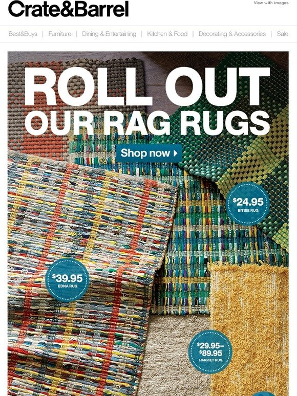 Crate And Barrel Roll Out The New Rugs Starting At 24