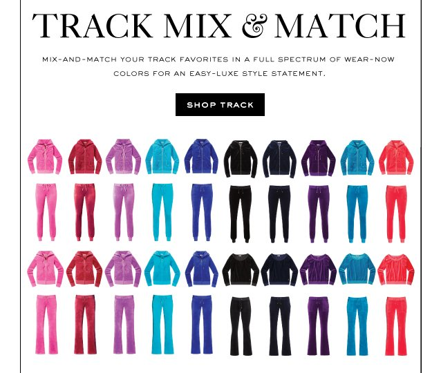 Track Mix and Match. Shop Track.