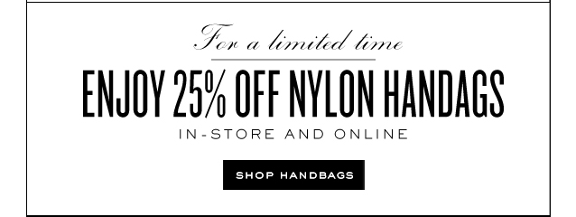 For a limited time Enjoy 25 percent Fff Nylon Handbags. im store and online. Shop Handbags.