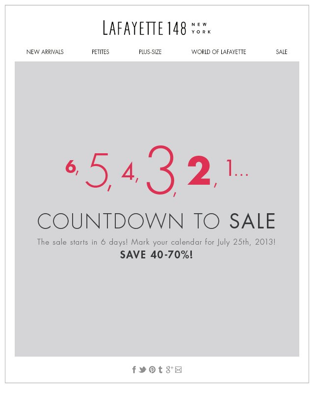 Countdown to SALE
