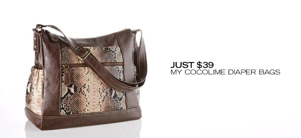 JUST $39: MY COCOLIME DIAPER BAGS, Event Ends July 23, 9:00 AM PT >