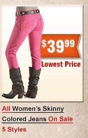 Wrangler Skinny Colored Jeans