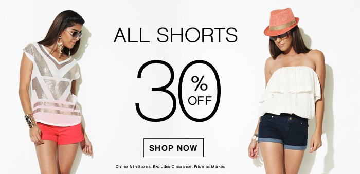 40% OFF All Shorts