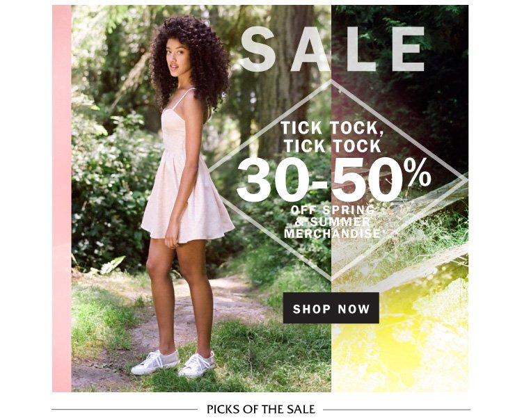 Sale: 30-50% off.
