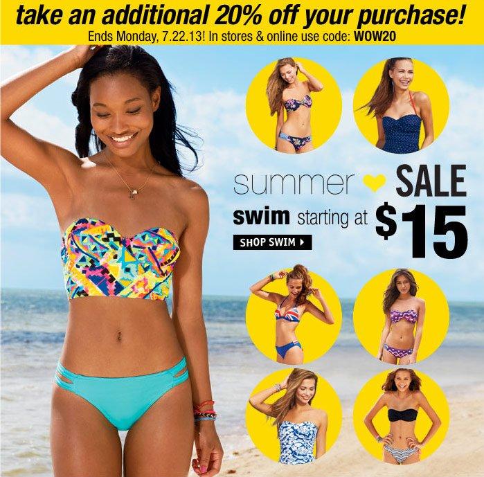 dELiA*s love DEALS swim  starting at $15