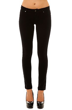Click to Shop the Midnight City Knit Skinny Pants in Black
