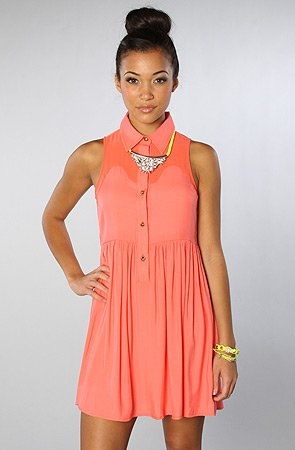 Click to Shop The Finders Keepers Falls Like Rain Mini Dress in Neon Pink