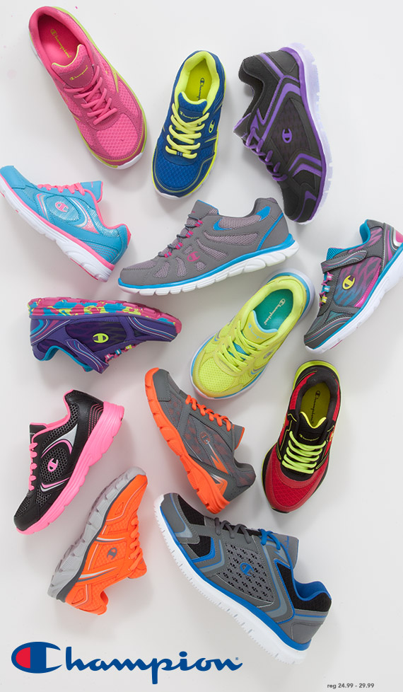 Color your style for class and the court with neon colors from Champion starting at only $24.99
