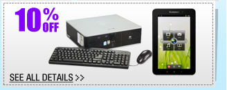 10% OFF SELECT REFURBISHED Systems & Tablets