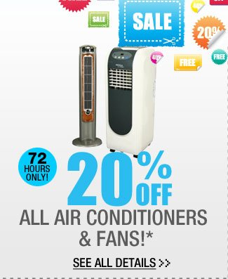 20% OFF ALL Air Conditioners