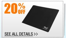 20% OFF ALL Mouse Pads & Accessories