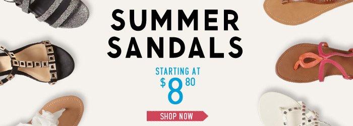 Summer Sandals - Shop Now