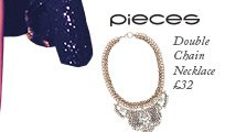 Pieces Double Chain Necklace