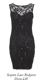 Sequin Lace Bodycon Dress