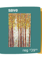 Birch Trees Wall Art - Blue