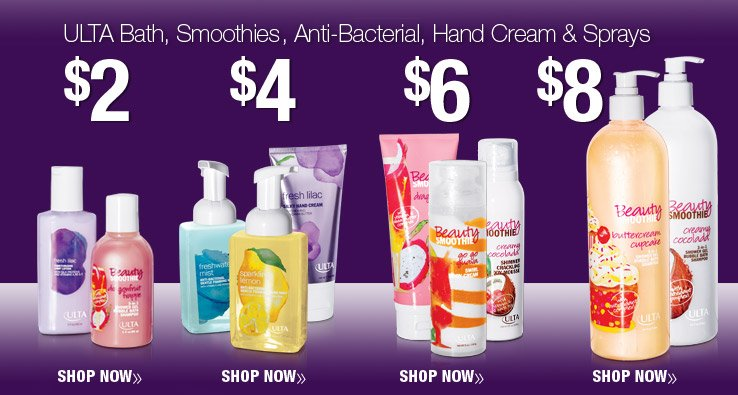 ULTA Bath, Smoothies, Anti-Bacterial, Hand Cream & Sprays