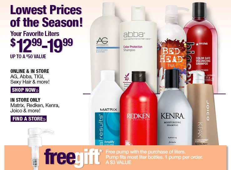 Lowest Prices of the Season onYour Favorite Liters!
