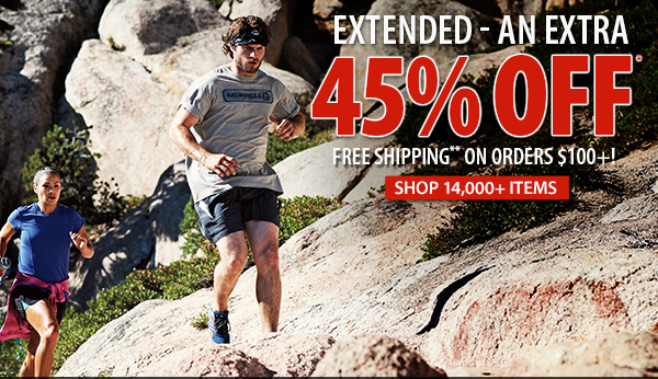 An extra 45% OFF 14,000+ items!