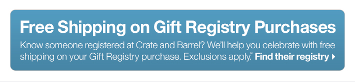 Free Shipping on Gift Registry Purchases