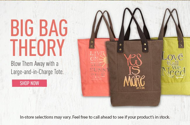 Big Bag Theory - Blow Them Away with a Large-and-in-Charge Tote