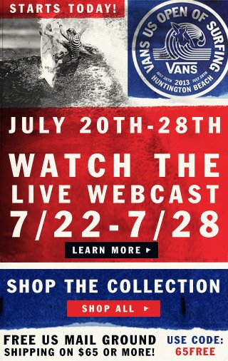 Watch the Vans US Open of Surfing and Shop the Collection