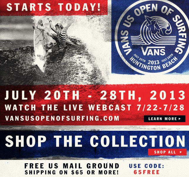 Vans US Open of Surfing - Watch the Live Webcast and Shop the Collection