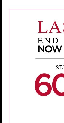Last Hours - End of Season Sale - Now and extra 20% off - Shop now!
