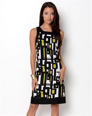 Jessica Howard Sleeveless Print Linen Dress