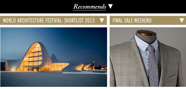 World Architecture Festival: Shortlist 2013 | Final Sale Weekend