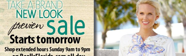 Take a brand new look sale starts tomorrow