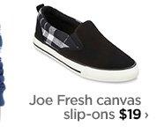 Joe Fresh canvas slip-ons $19 ›
