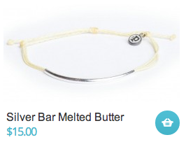 Silver Bar Melted Butter