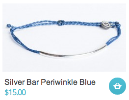 Silver Bar Periwinkle Blue