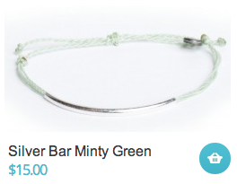 Silver Bar Minty Green