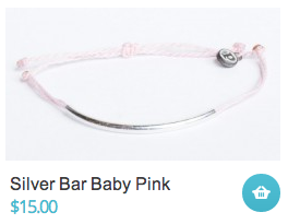 Silver Bar Baby Pink