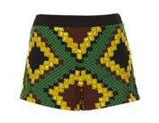 Beaded African Print Shorts