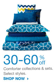 30-60% off Comforter collections & sets. Select styles. SHOP NOW