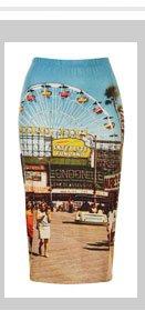 Big Wheel Printed Tube Skirt