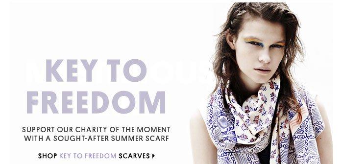 Key to Freedom - Shop Key to Freedom scarves