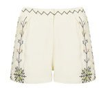 Aztec Embroidered Shorts