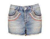 MOTO Embellished Denim Hotpants