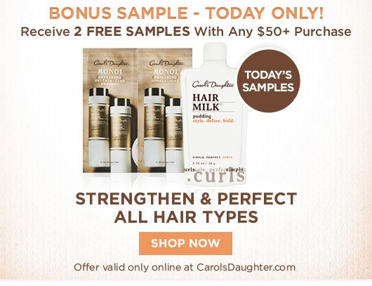 FREE SAMPLES with $50+ Purchase