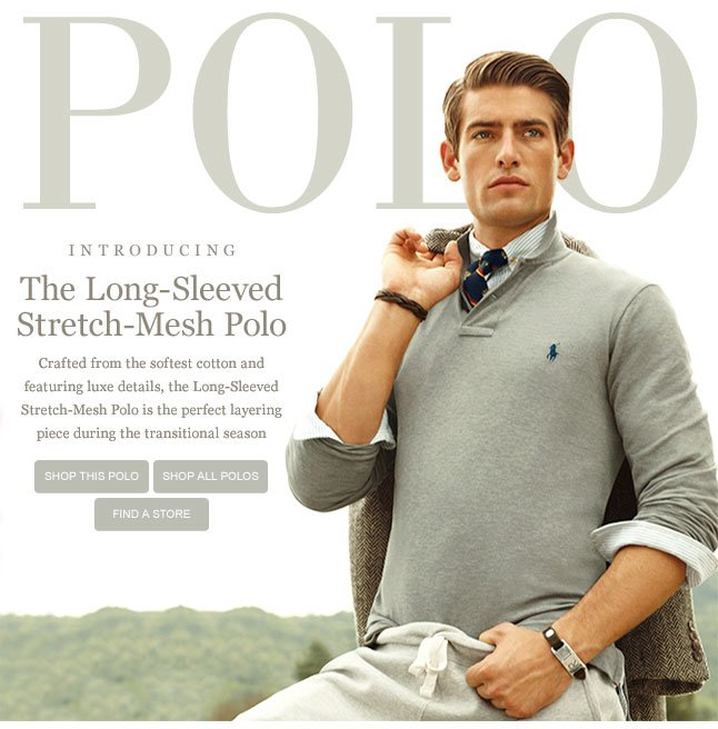 Introducing The Long-Sleeve Stretch Mesh Polo