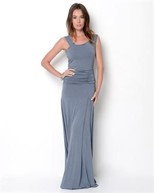 Hodges Ruched Maxi Dress- Made in USA