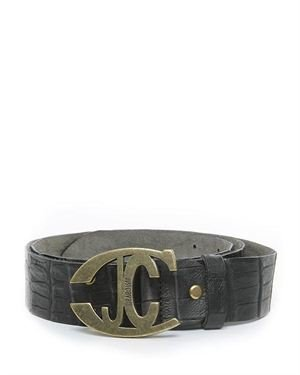 Just Cavalli Cut-Out Brand Logo Belt Made In Italy