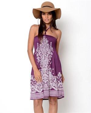 Second Skin Printed Halter Dress