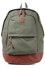 The Canteen Canvas Backpack in Military Green