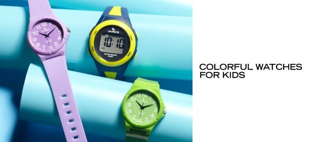 COLORFUL WATCHES FOR KIDS, Event Ends July 25, 9:00 AM PT >