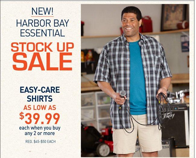 Harbor Bay & Canyon Ridge Easy Care Short Sleeve Shirts Mix and Match
